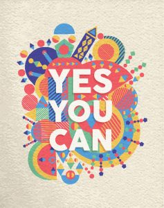 "Motivationsposter mit Spruch ""Yes you can"""